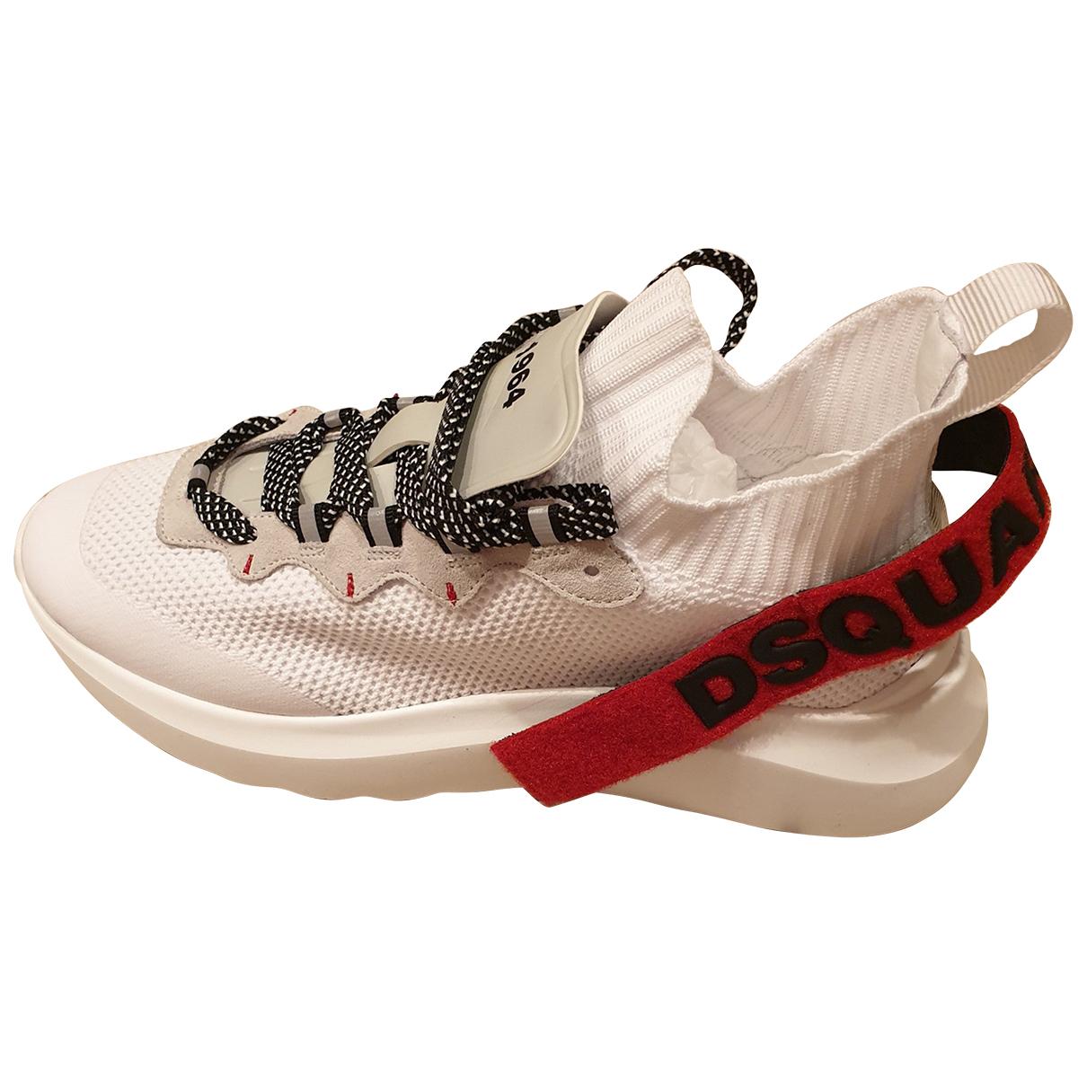 Dsquared2 - Baskets   pour homme en toile - blanc