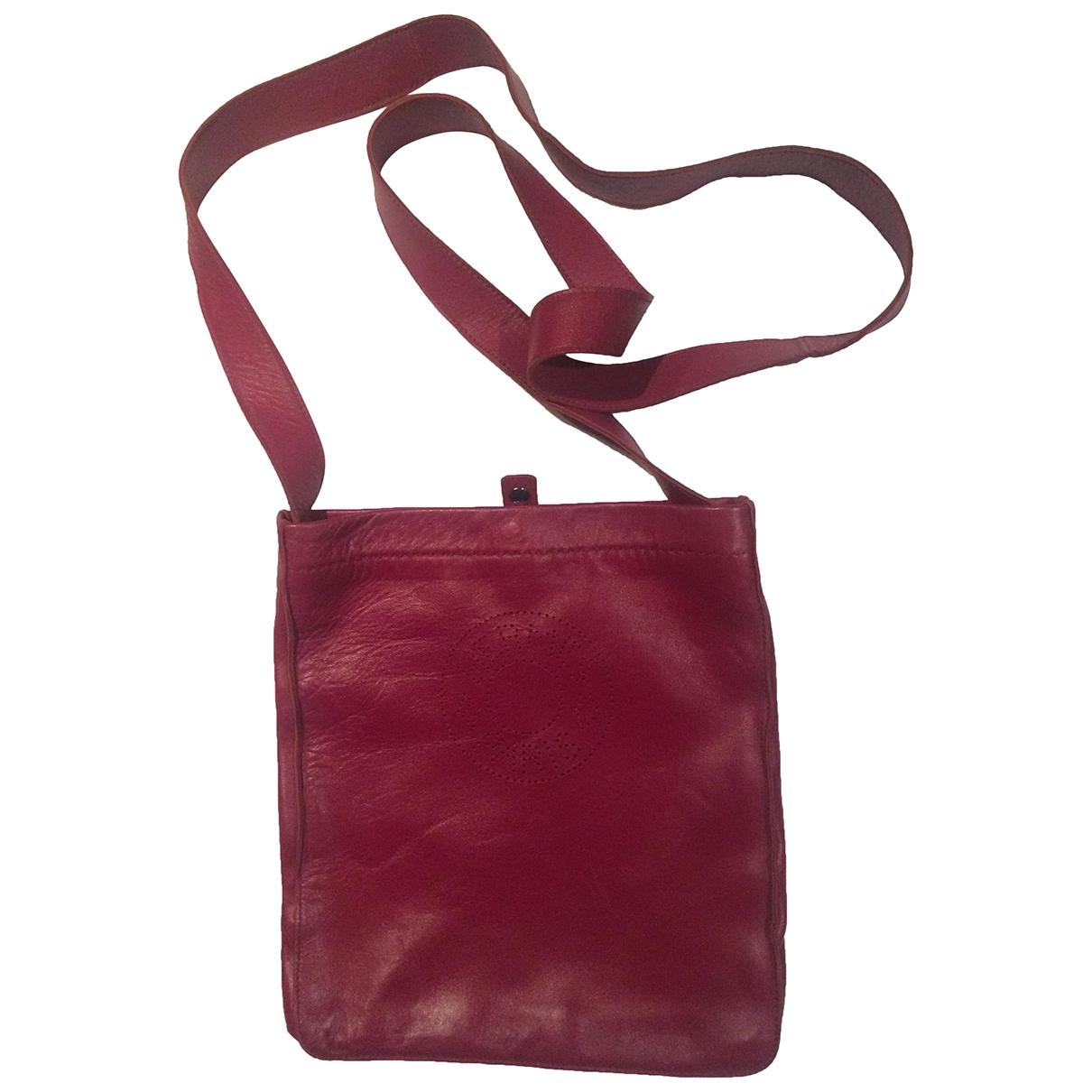 Hermes - Pochette   pour femme en cuir - rouge