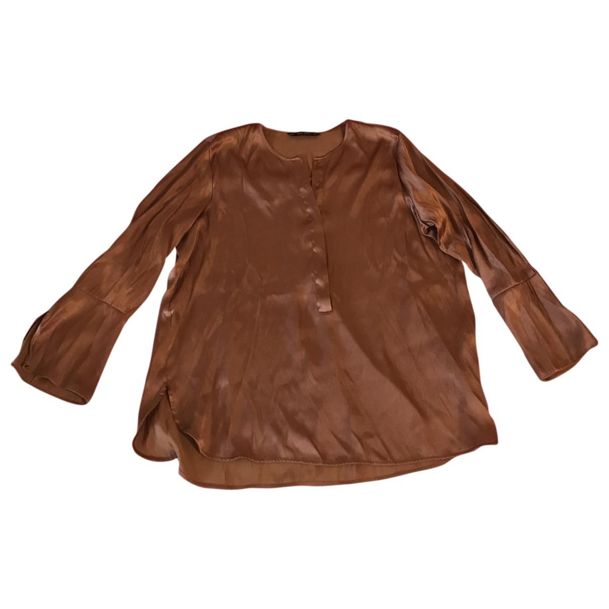 Zara \N Top in  Braun Synthetik