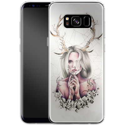 Samsung Galaxy S8 Silikon Handyhuelle - The Antlers von Kate Powell