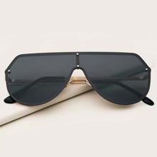 Gafas de sol protectoras de hombres de montura plana