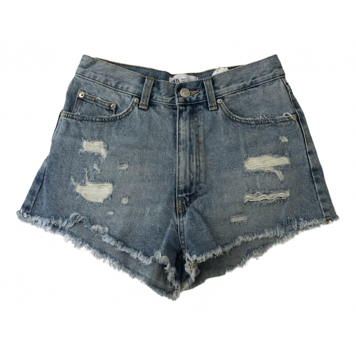 Zara \N Shorts in  Blau Baumwolle