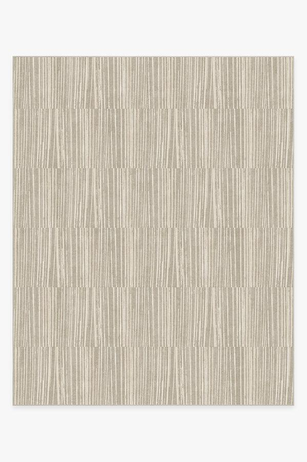 Washable Rug Cover & Pad | Caspian Stripe Natural Rug | Stain-Resistant | Ruggable | 8x10