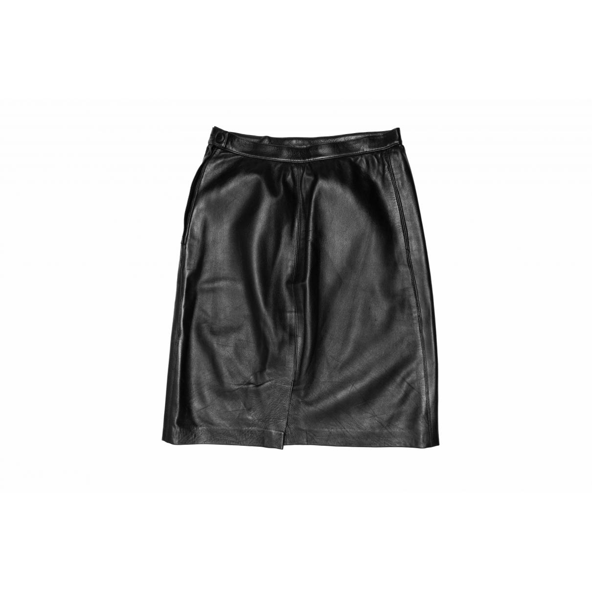 Yves Saint Laurent \N Rocke in  Schwarz Leder