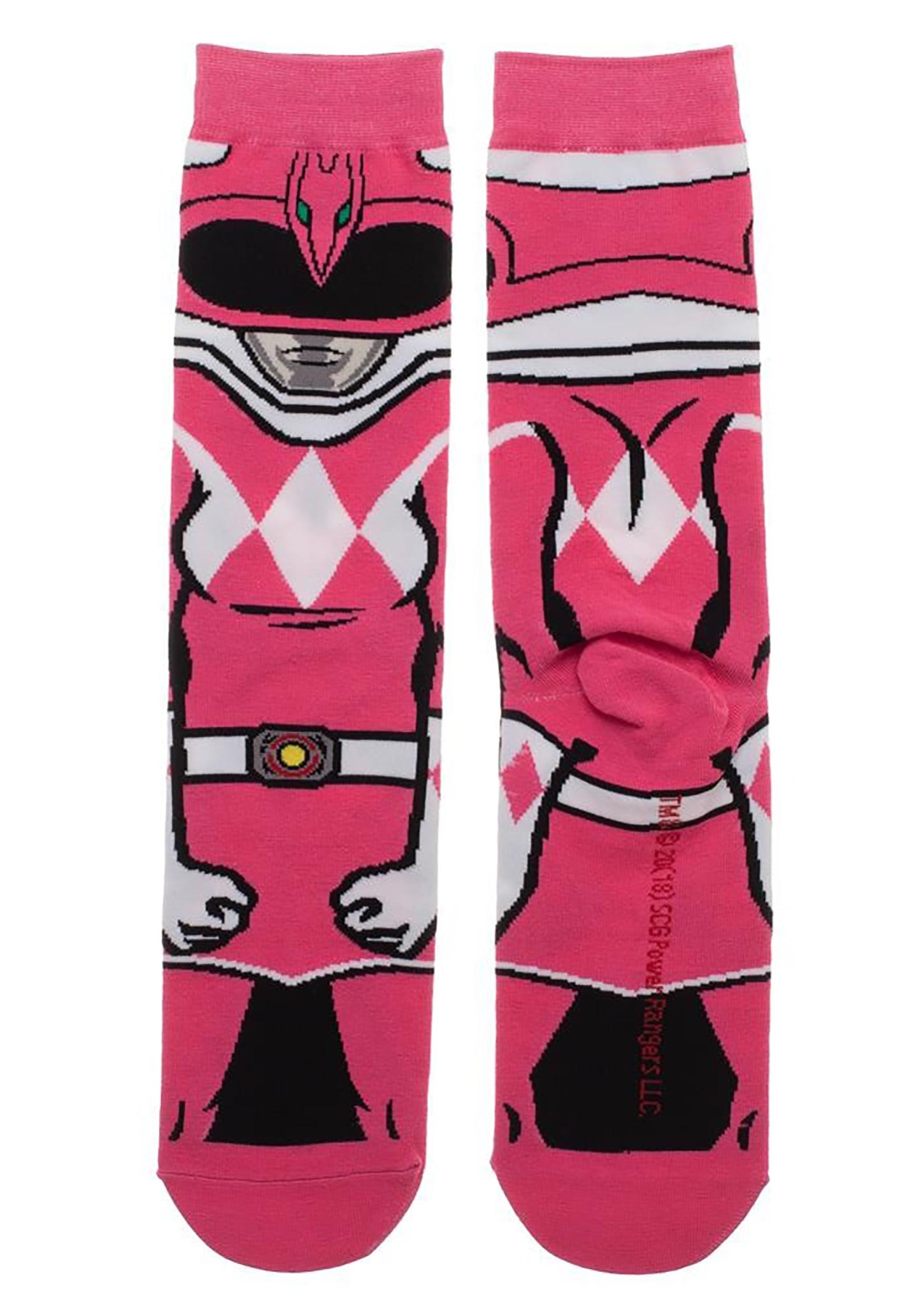 Power Rangers Pink Ranger 360 Character Crew Adult Sock