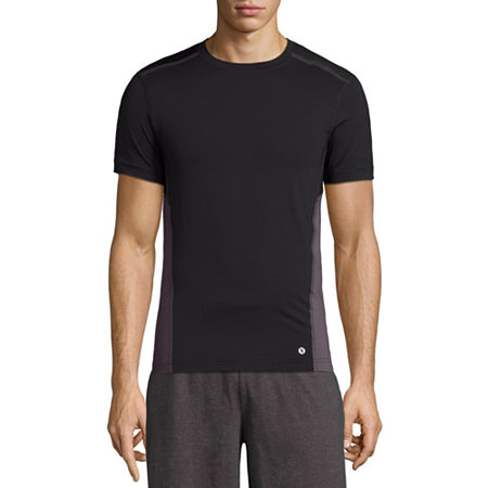 Xersion Mens Crew Neck Short Sleeve T-Shirt, Xx-large , Black