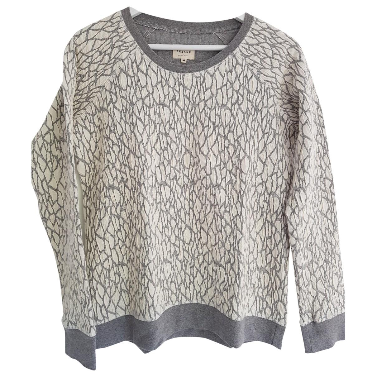 Sezane \N Pullover in  Weiss Baumwolle