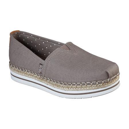 Skechers Bobs Womens Breeze - New Discovery Slip-On Shoe, 6 Medium, Beige