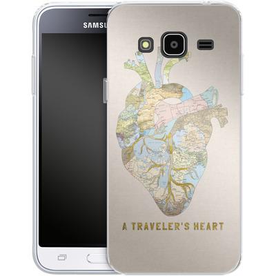 Samsung Galaxy J3 (2016) Silikon Handyhuelle - A Travelers Heart von Bianca Green