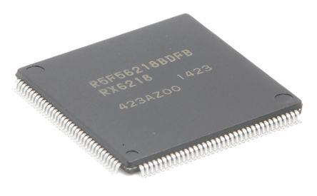 Renesas Electronics R5F56218BDFB#V0, 32bit RX Microcontroller, RX600, 100MHz, 512 kB Flash, 144-Pin LFQFP