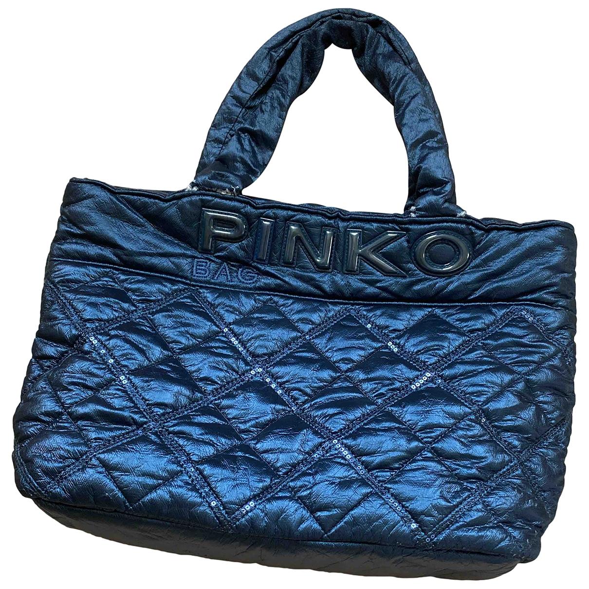 Pinko \N Handtasche in  Blau Synthetik