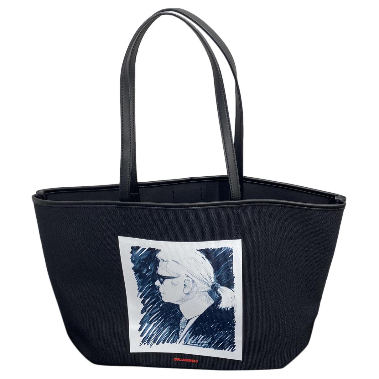 Karl Lagerfeld - Sac a main   pour femme en toile - noir