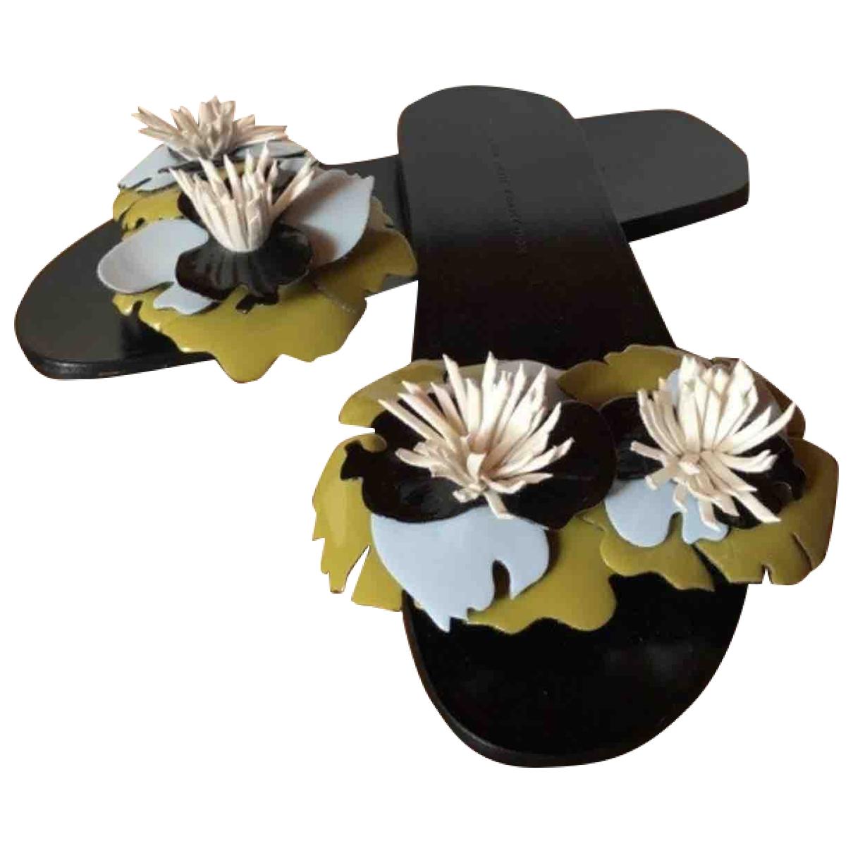 Zara - Sandales   pour femme en cuir verni