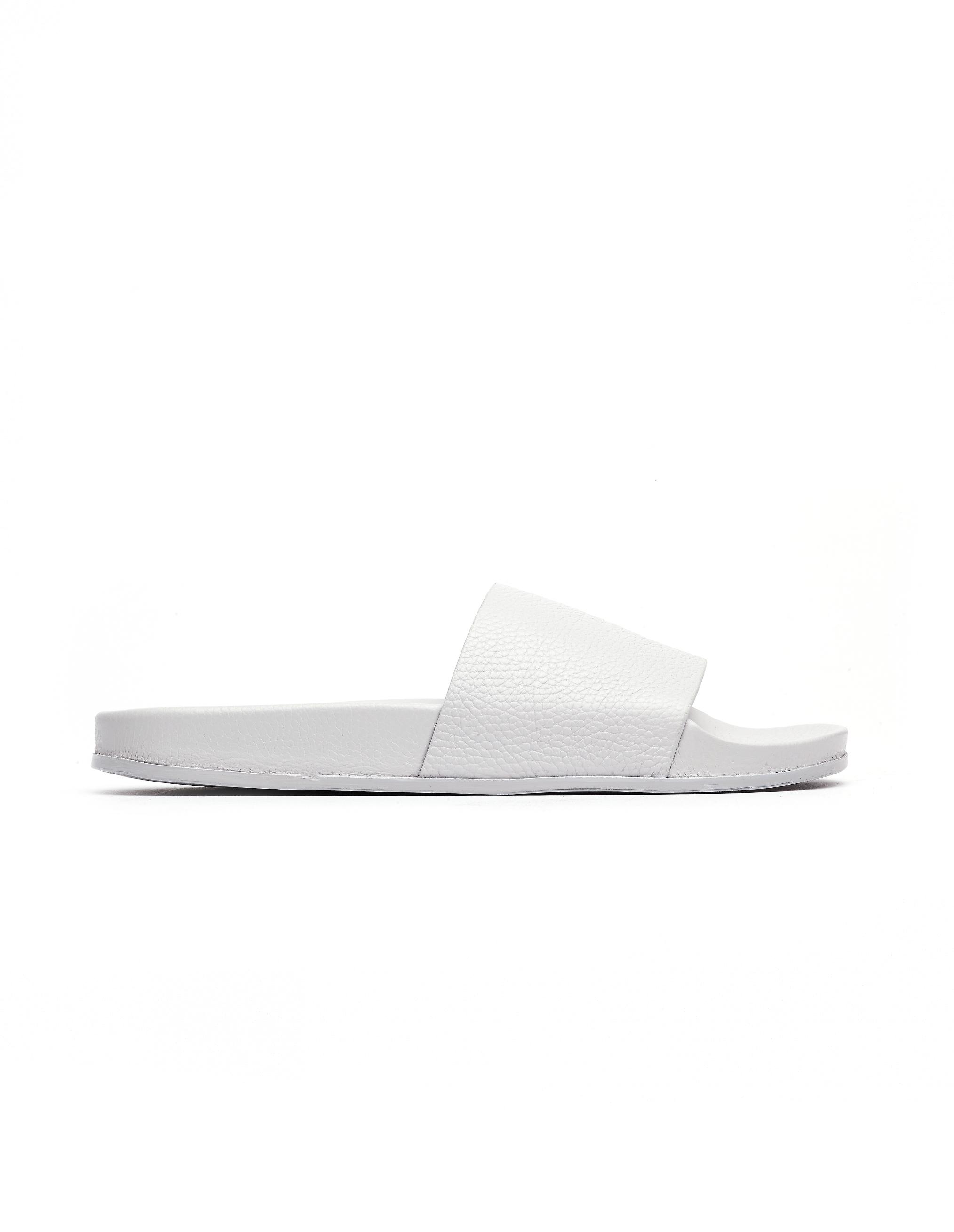 Vetements Grey Leather Flip-Flops