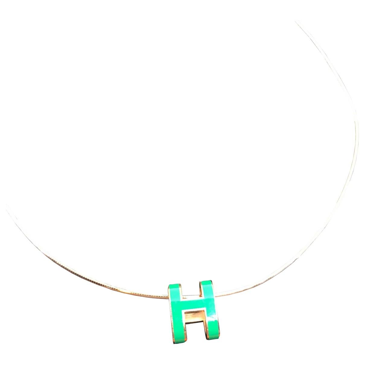 Hermes - Collier Pop H pour femme en metal - metallise