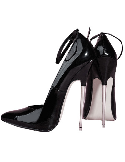 Milanoo High Heel Black Pump Shoes