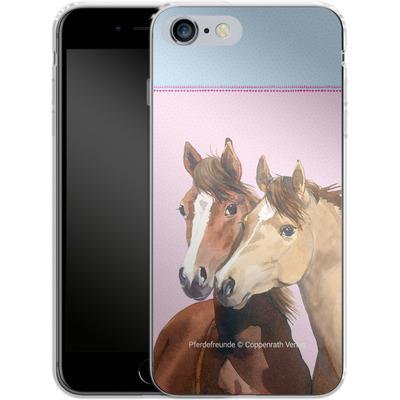 Apple iPhone 6s Plus Silikon Handyhuelle - Pferdefreunde Rosa von Pferdefreunde