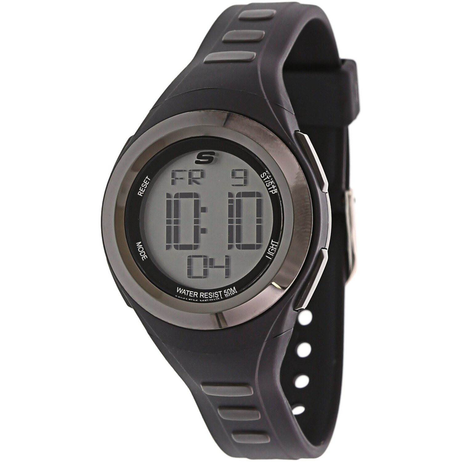 Skechers Watch SR2063 Tennyson Digital Display, Chronograph, Water Resistant, Backlight, Alarm, Black