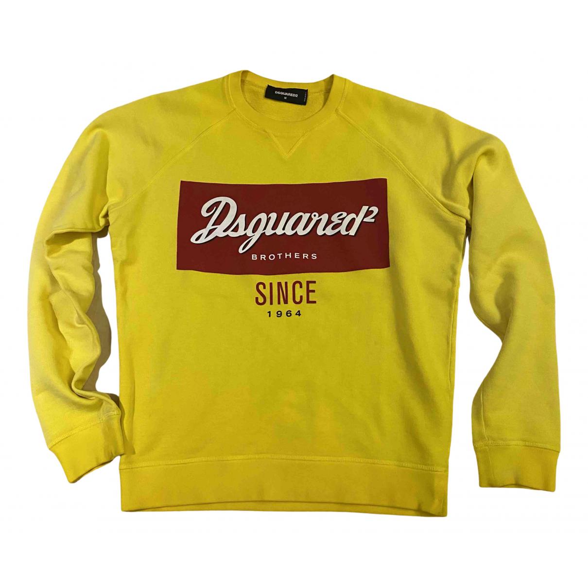 Dsquared2 \N Pullover.Westen.Sweatshirts  in  Gelb Baumwolle