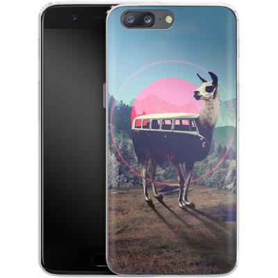 OnePlus 5 Silikon Handyhuelle - Llama von Ali Gulec