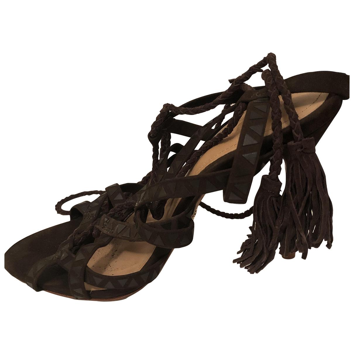 Schutz \N Brown Leather Heels for Women 7.5 US