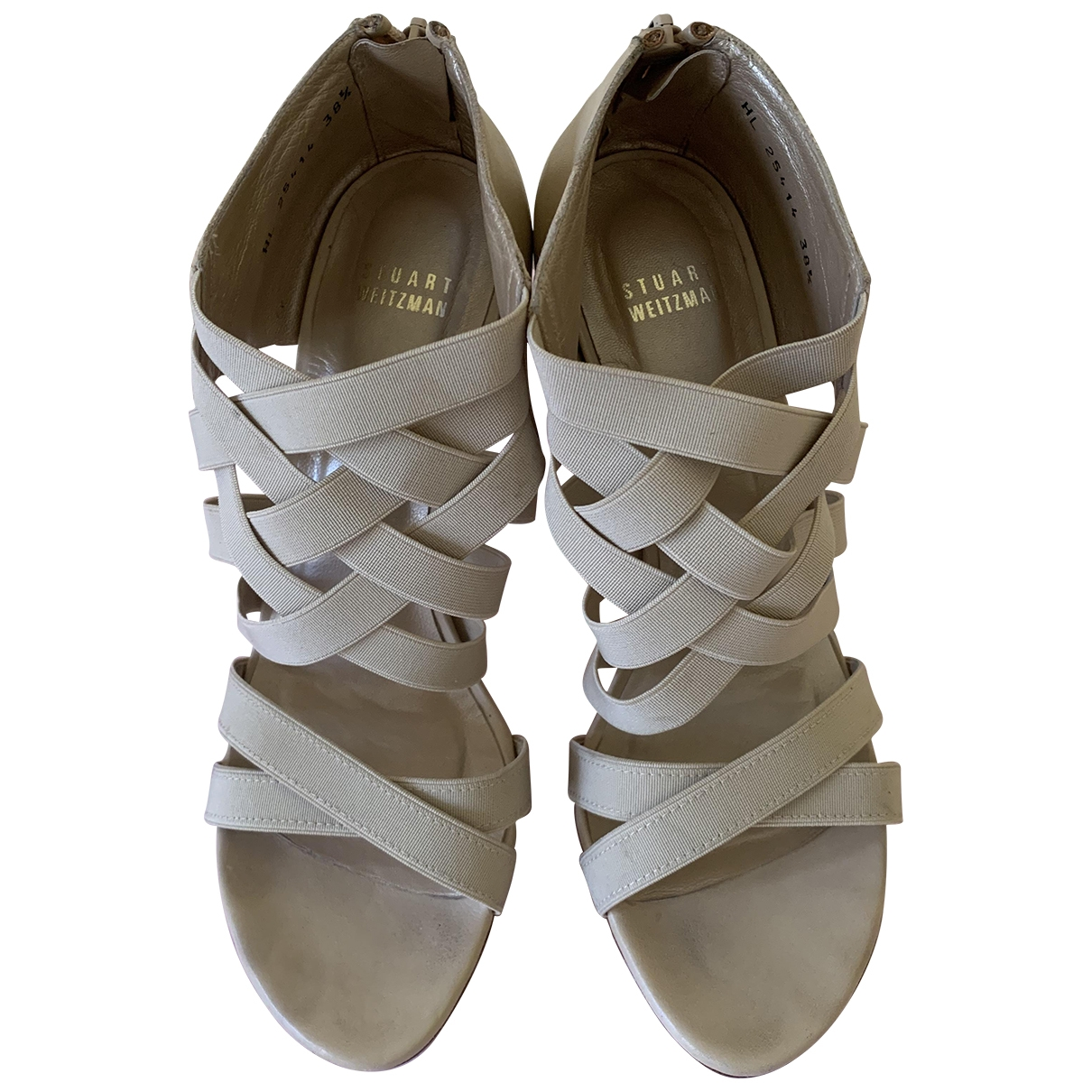 Stuart Weitzman - Sandales   pour femme en cuir - beige