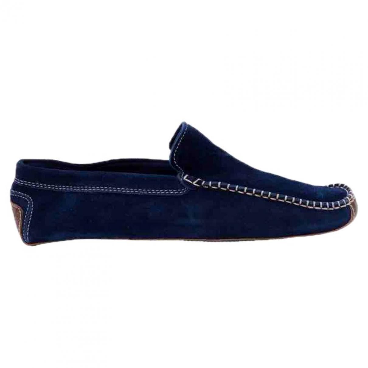 Faconnable - Mocassins   pour femme en suede - bleu