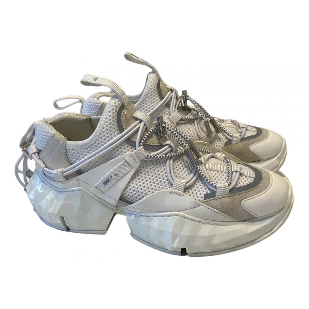 Jimmy Choo - Baskets Diamond pour femme en toile - blanc