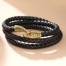 Maenner Gewebter Armband mit Schlangen Design