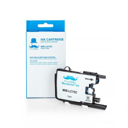 Compatible Brother MFC-J5910DW Cyan Ink Cartridge by Moustache, High Yield