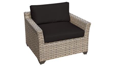 Monterey Collection TKC015b-CC-BLACK Club Chair - Beige and Black