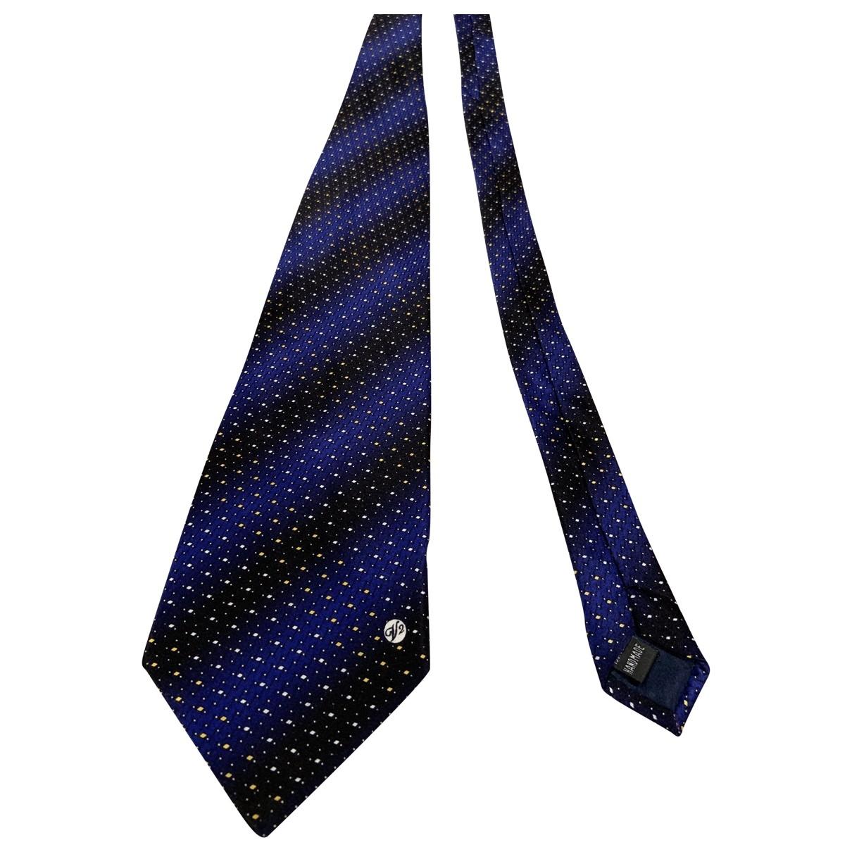 Versace \N Krawatten in  Blau Seide