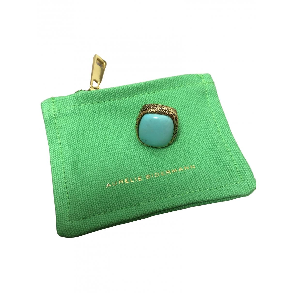 Aurelie Bidermann - Bague Miki pour femme en plaque or - turquoise
