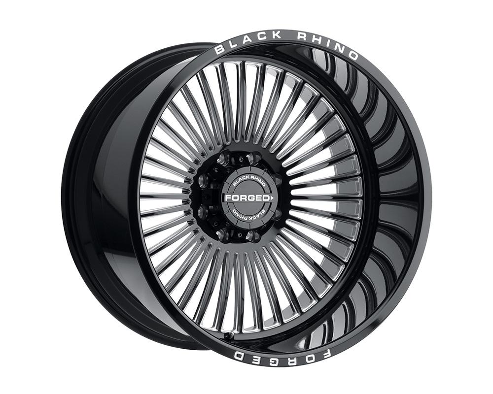 Black Rhino Horus Wheel 24x14 5x127 -76mm Gloss Black w/Milled Spokes