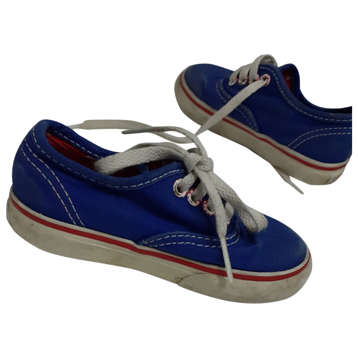 Vans - Baskets   pour enfant en toile - bleu