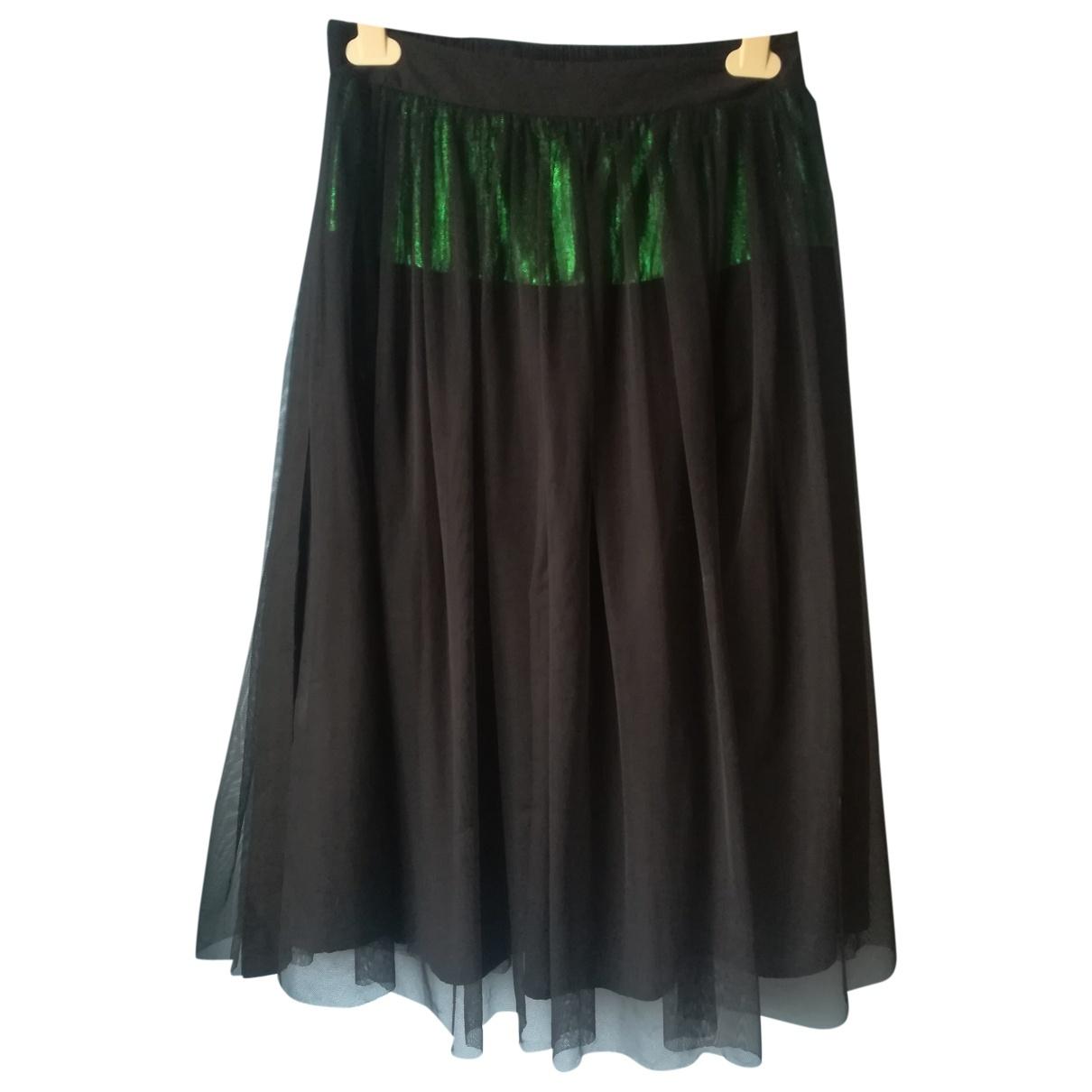 8pm \N Black Cotton - elasthane skirt for Women XS International