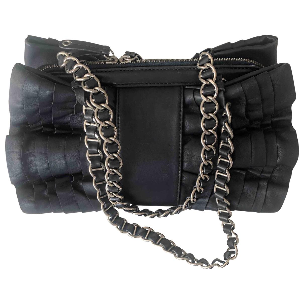 Moschino Cheap And Chic \N Handtasche in  Blau Leder