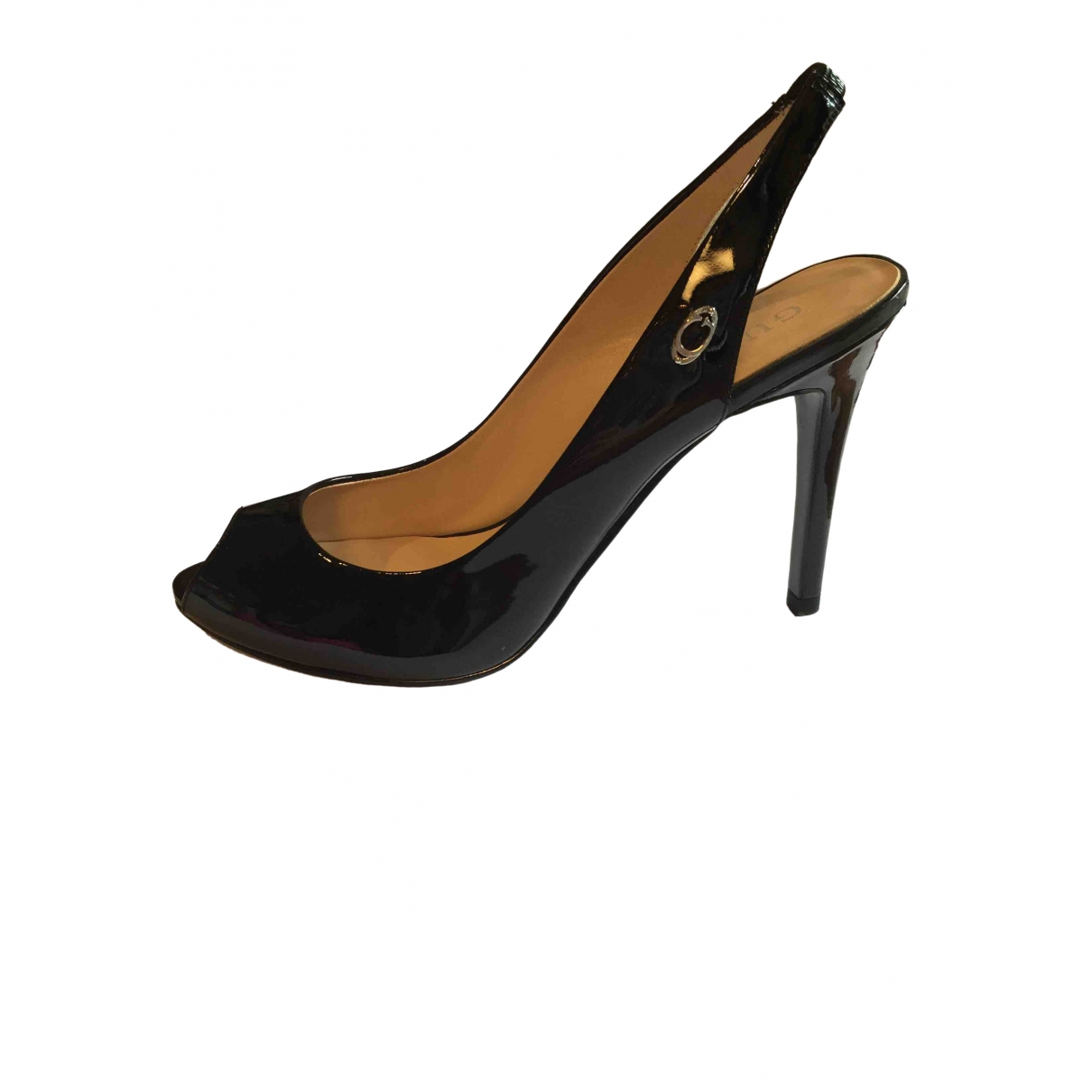 Guess \N Black Patent leather Heels for Women 39 EU