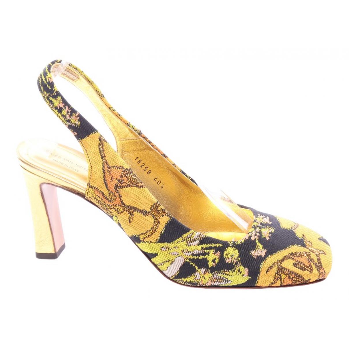 Dries Van Noten - Escarpins   pour femme en cuir - multicolore