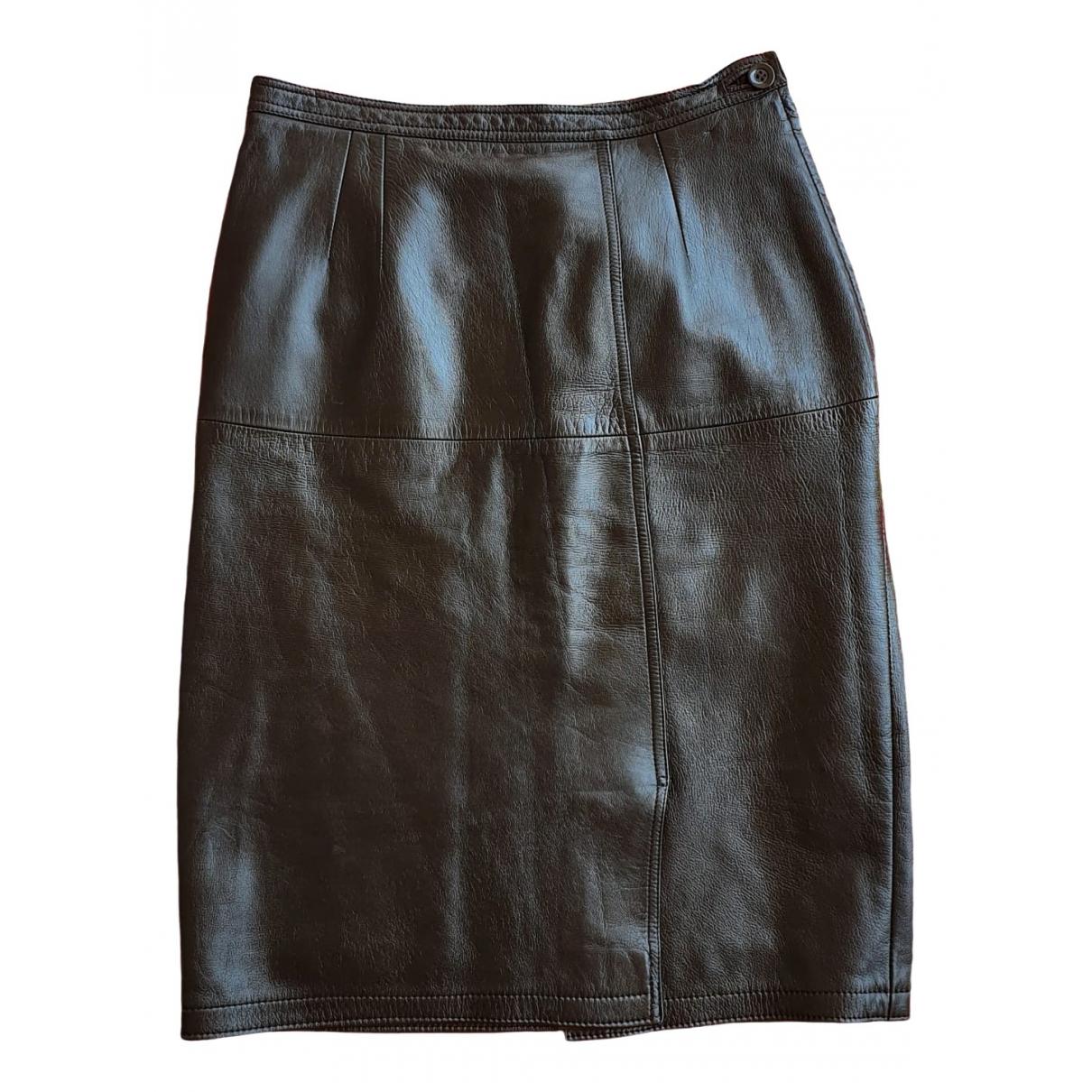 Falda midi de Cuero Loewe