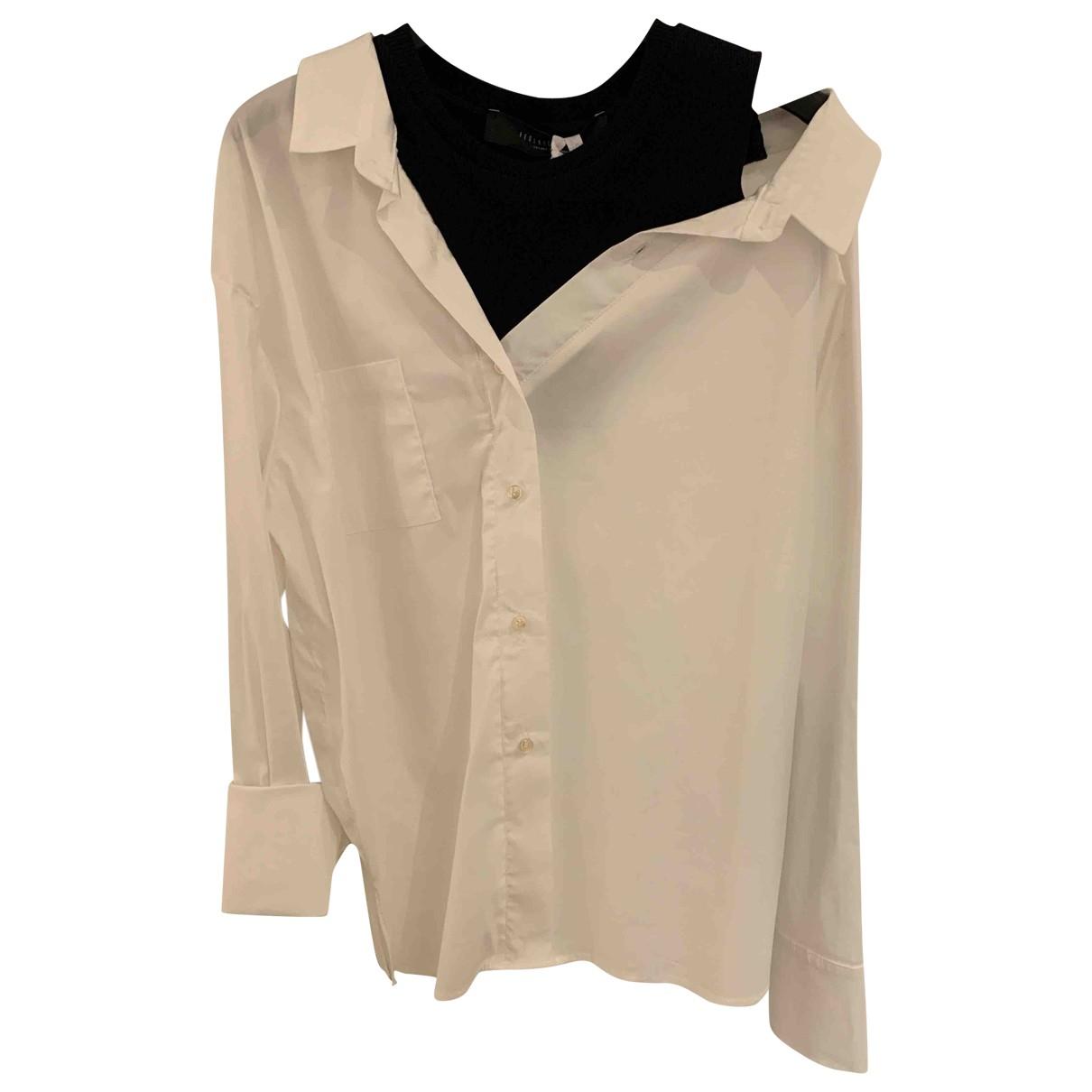 Federica Tosi - Top   pour femme en coton - blanc