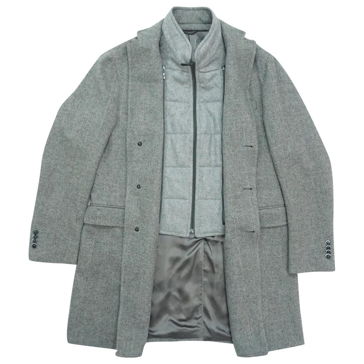 Boggi - Manteau   pour homme en laine - gris