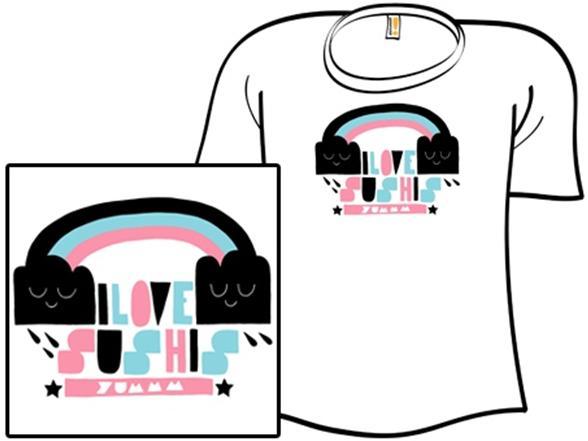 I Love Sushis T Shirt