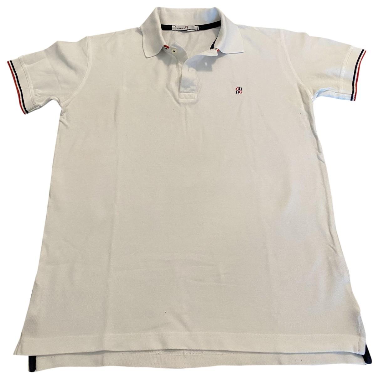 Carolina Herrera - Polos   pour homme en coton - blanc