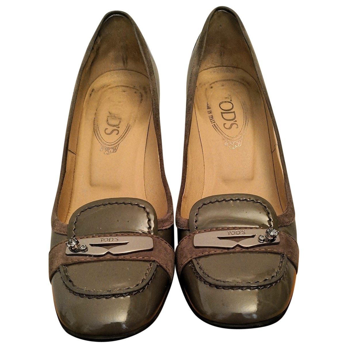Tod's \N Grey Patent leather Heels for Women 37 EU