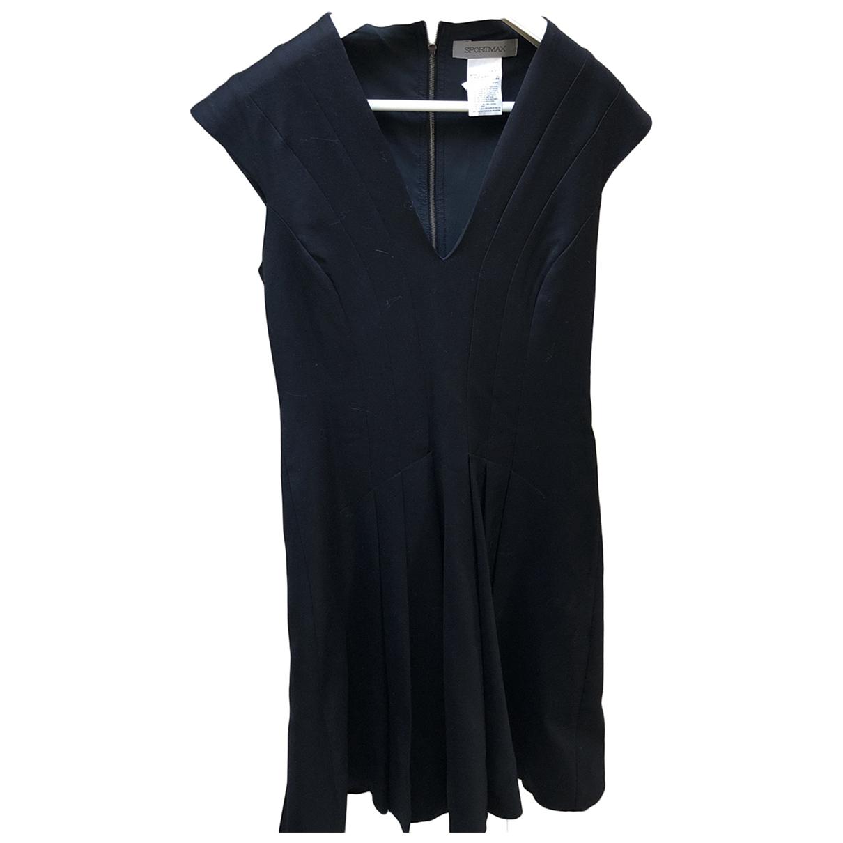 Sport Max - Robe   pour femme en coton - noir