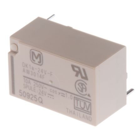Panasonic , 24V dc Coil Non-Latching Relay SPNO, 10A Switching Current PCB Mount