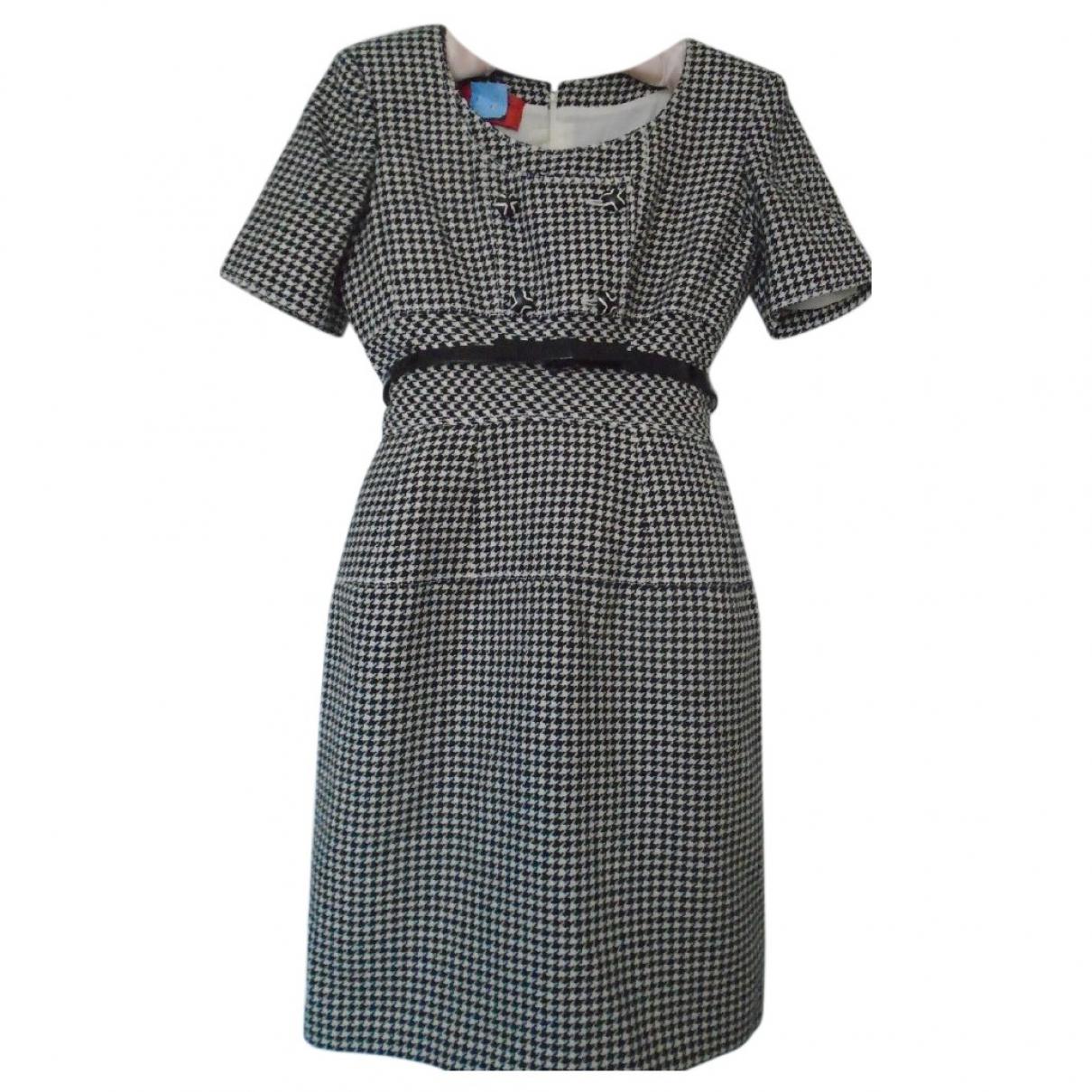Emanuel Ungaro \N Kleid in  Schwarz Wolle