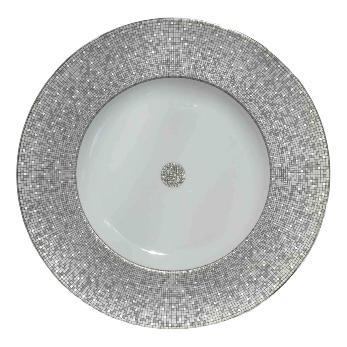 Hermes Mosaique au 24 Tischkultur in  Silber Porzellan