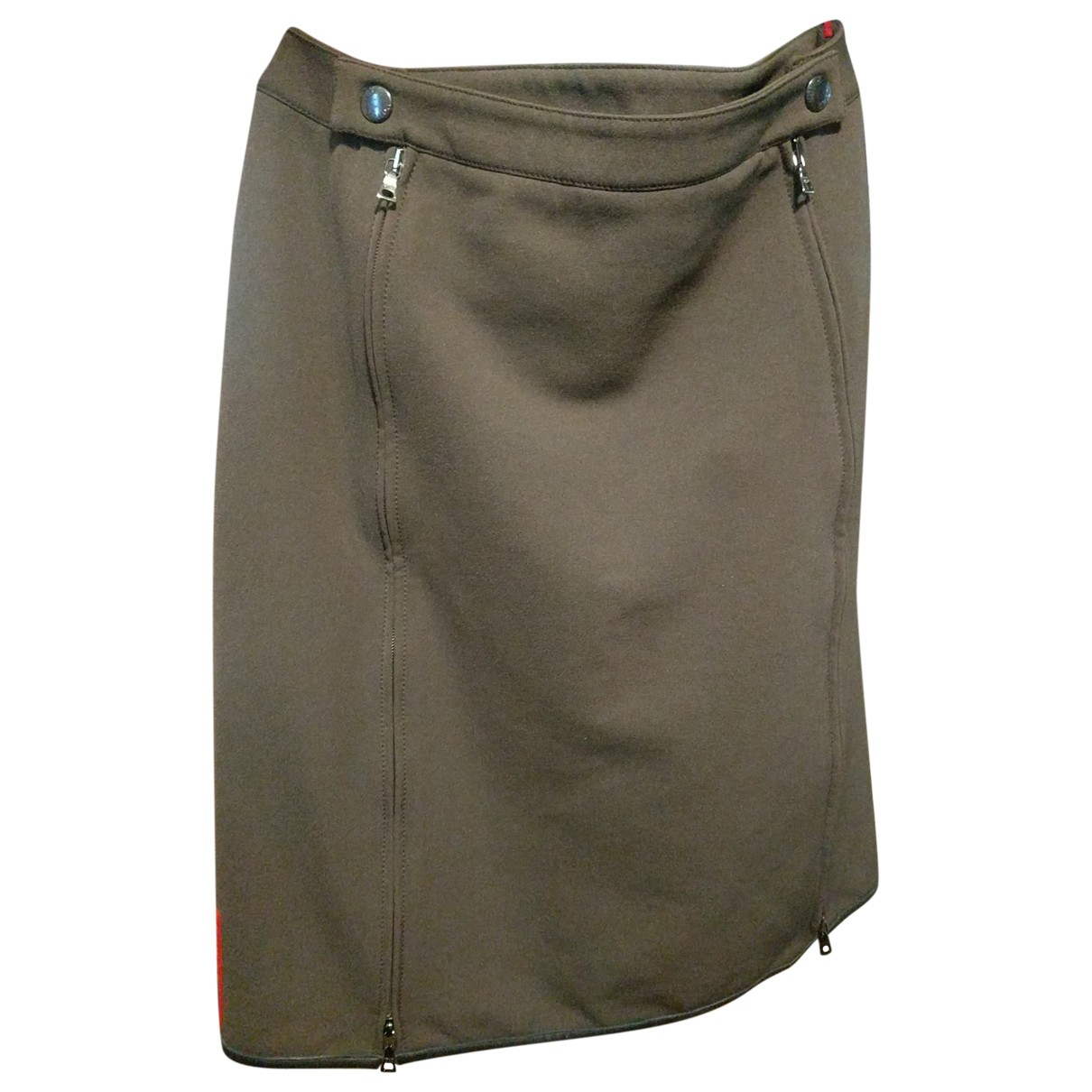 Prada \N Khaki Cotton - elasthane skirt for Women 42 FR